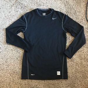 Men's Nike Pro Black LS Shirt Like New!